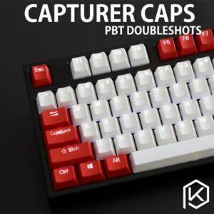 Capturer Backlit Doubleshot PBT Keycap Set Shine-Through Legends OEM Profile WOW