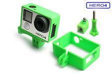Frame +Tripod Mount f. GoPro HERO4 Black Rahmen Zubehör Stativ Adapter Green