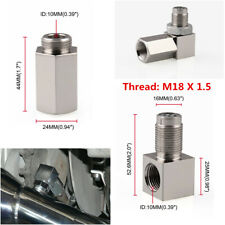 90°O2 Sensor Spacer Engine Light CEL Check Bung Mini Catalytic Converter M18X1.5