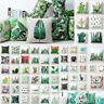 Tropical Plants Cactus Waist Throw Cushion Cover Pillow Case Sofa Bed Home Decor