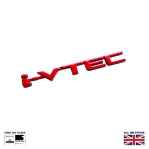 Red I-VTEC Boot Badge For Honda Accord Civic CRX CR-V HR-V FR-V S2000