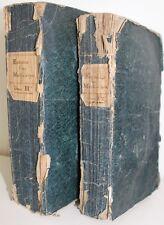 RARE : Régnault : Entretiens Mathématiques 1743, 2 vol. Trigonomètrie Géométrie