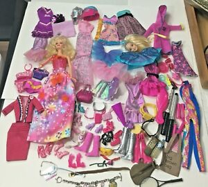 Lot of Barbie Dreamtopia Doll Clothes Shoes Purse Vtg Swan Lake Bracelet plus