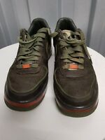 NIKE AIR FORCE 1 XXV LEATHER CAMOUFLAGE GREEN SIZE UK 8(EU42) PREOWNED GOOD FB4