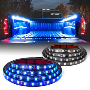 "Xprite 2pcs 60"" LED Bar Cargo Work Strips Underbody Car Truck Bed Lighting Kit"