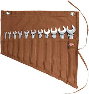 Wrench Tool Pouch Roll Up Pocket 11 Storage Organizer Mechanics Garage Work Wrap
