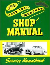 Ford Shop Manual Mercury Service Repair Book Car Truck Flathead V8 V12 1932-1941