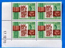 BLOC DE 4 TIMBRES   MONACO  N° 857 UNESCO  NEUF **  MNH BD63