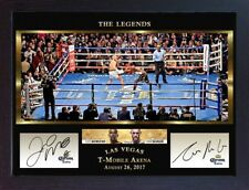 Conor McGregor v Floyd Mayweather Jr Las Vegas 2017 TMT UFC MMA signed Framed #8