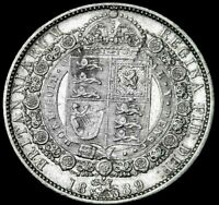 1889 Great Britain Half Crown Amazing Details see the Pics  re6-1-20 A47-181