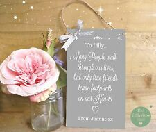 Friends Plaque Personalised Neighbour Thank You Gift Sign Keepsake Shabby Chic