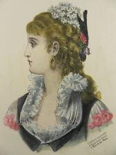 FRISUR HAARE FRISEUR FRISÖR 3x KOL. LITHOGRAPHIE PARIS 1881 HAIRDRESSER G16