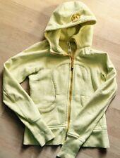 LULULEMON Scuba Hoodie Stretch Jacket Mellow Lemon Yellow size 4 Run  Gym Fun