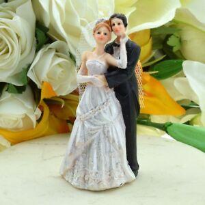 Romantic Caress Bride and Groom Wedding Cake Topper