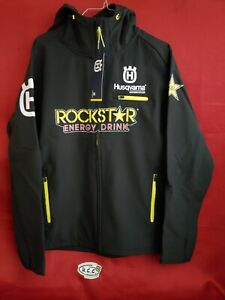 Jacket Husqvarna Rockstar Energy Replica Hard Shell Hooded Jacket size Large