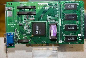 Vintage Diamond Stealth 3D 4MB S3 VirgeVX PCI video card tested VGA56