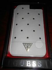 Housse Etui Universel Guess Studded Blanc compatible Huawei G8