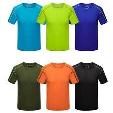 Hommes T-shirts O-cou Décontracté Solide Shirts mince à manches courtes Hauts