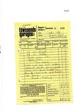 EPHEMERA -694- TOWNSENDS GARAGES, RUSHDEN, NORTHANTS. - INVOICE - JUN 1970