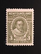 Stamps Canada Newfoundland Sc89 3c brn olive John Guy LH OG-See description