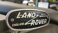 Cast Badge for Land Rover Defender Series 2 2a 3 OEM Solihull 332670