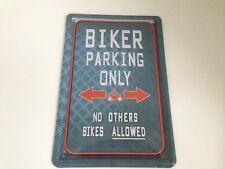 Biker parking only -  Blechschild 20x30 cm Parkplatz Garage Carport Schild 2