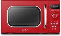 COMFEE' AM720C2RA-R Retro Style Countertop Microwave Oven with 9 Auto Menus Eco