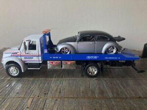 Miller International Durastar 4400 Flat Bed with VW Beetle Jada Toys 1/24