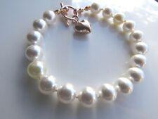Rose Gold Plated Bracelet Made With Swarovski Crystal Pearls