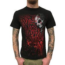 SPIRAL - Death Blood - Herren T-Shirt (Gothic Skull Mens Shirt) schwarz