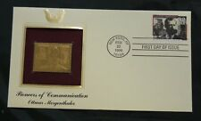 VINTAGE 1st Day of Issue 22k gold pltd stamp-Pioneers of Com-Eadweard Muybridge