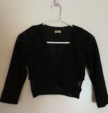 Hollister size S - black lace crop top