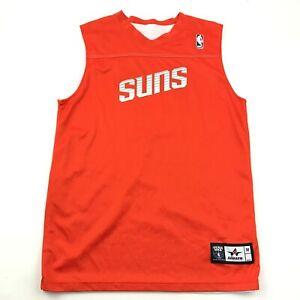 NBA Phoenix Suns Basketball Jersey Size Medium M Orange White Tank REVERSIBLE