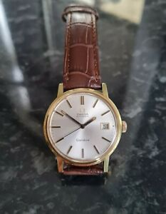 Gents Gold Plated Omega Geneve Automatic Watch