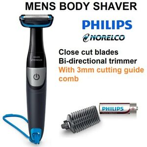Philips Cordless Body Shaver Chest Legs Arms Neck with Trimmer Guide Sharp Blade