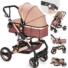 Newborn Baby Stroller Luxury Buggy Pram Foldable Pushchair Infant Carriage