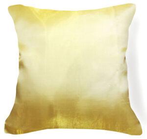 Jb202a 2 Pcs x Pale Gold Poly Taffeta Plain Cushion/Pillow Cover Custom Size