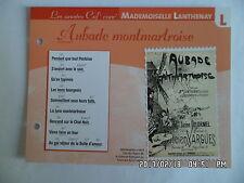 CARTE FICHE PLAISIR DE CHANTER MADEMOISELLE LANTHENAY AUBADE MONTMARTROISE