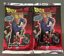 Sealed Dragon Ball Z Androids Saga CCG Booster Packs Lot of 2