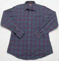 Nordstrom Dress Shirt Large Pocket Cotton Long Sleeve Mens Striped Green Purple