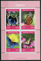 Chad 2019 MNH Butterflies Monarch Butterfly 4v M/S Papillons Insects Stamps
