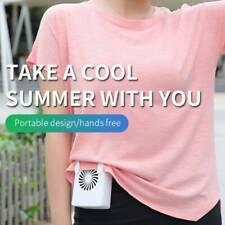 Portable USB Rechargeable Lazy Fan Hanging waist Mini Cooling Sports Rest Fan uk