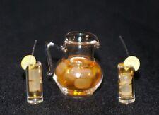 Iced Tea Set Dollhouse Miniature Food Drinks 1:12 Scale