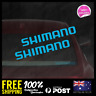 2X SHIMANO MEDIUM Decal 145X19mm Fishing Bike Sticker Vinyl JDM Window Laptop