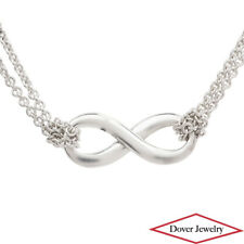 Tiffany & Co. Italian Sterling Silver Infinity Pendant Chain Necklace 6.1 Gr NR