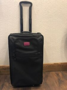 Tumi Alpha Series Expandable Carry-on With Purple Accents
