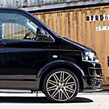 """4 18"""" BLACK Alloy Wheels 2554518 Tyres VW T5 Transporter T6 5x120  x4 BK693"""