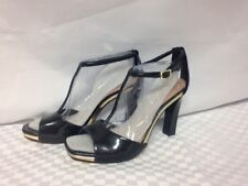 """Vince Camuto """"Tezer"""" T-Strap Heels Black 8.5 M Patent Leather Upper New with Box"""
