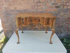 Antique Walnut Queen Anne Kneehole Desk