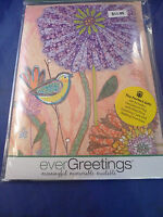 New Evergreetings Card 12.5 by 18 Garden Flag Gift Set Lot Happy Birthday Kit